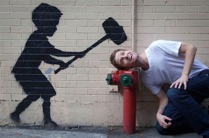 Fanii si arta lui Banksy interactioneaza pe strazile din New York - Poza 2