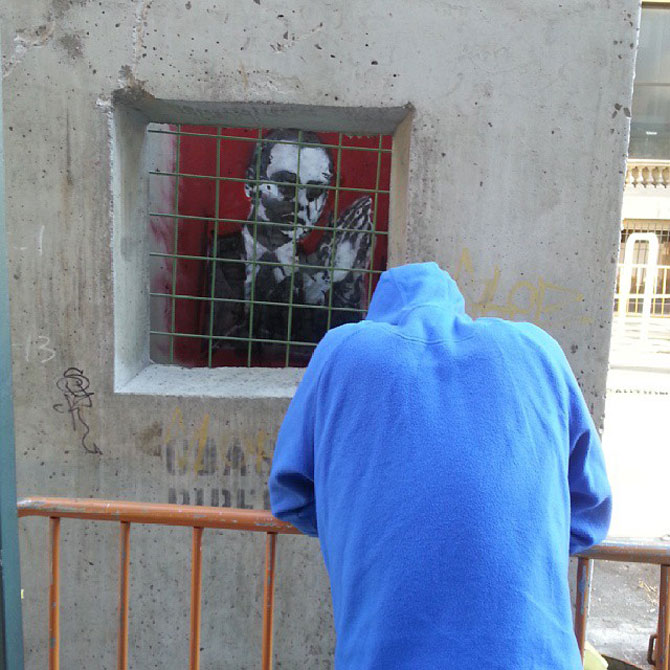 Fanii si arta lui Banksy interactioneaza pe strazile din New York - Poza 5