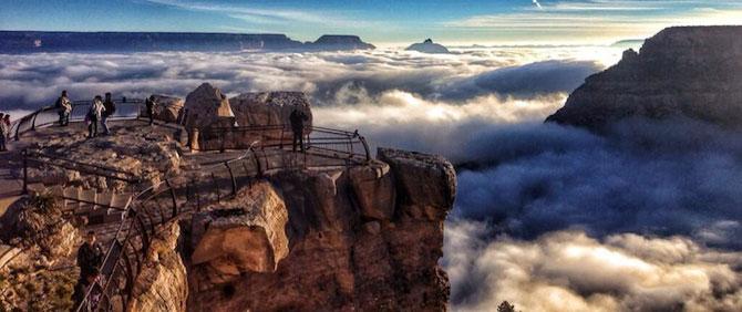 Marele Canion, umplut de un val de ceata - Poza 1