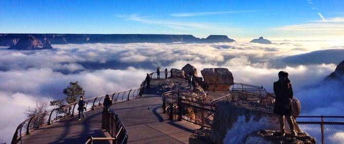 Marele Canion, umplut de un val de ceata - Poza 2