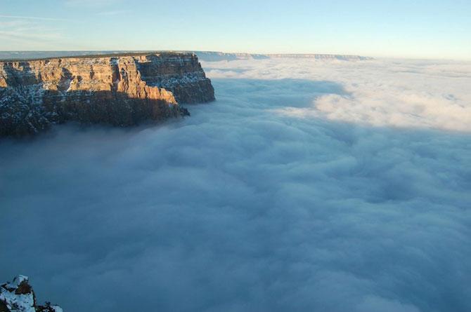 Marele Canion, umplut de un val de ceata - Poza 3