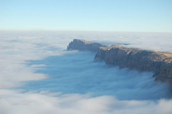 Marele Canion, umplut de un val de ceata - Poza 4