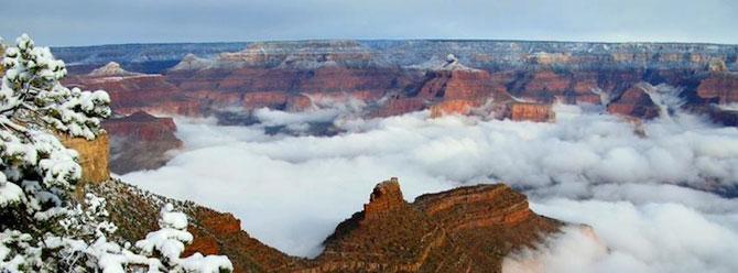 Marele Canion, umplut de un val de ceata - Poza 5