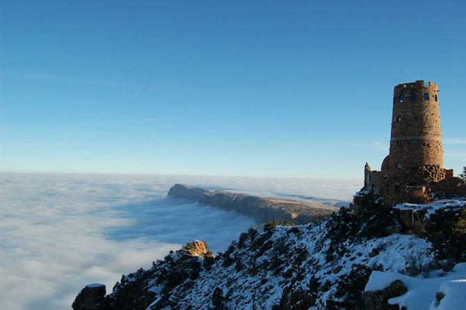 Marele Canion, umplut de un val de ceata - Poza 7