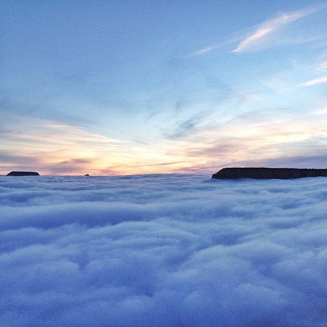 Marele Canion, umplut de un val de ceata - Poza 8