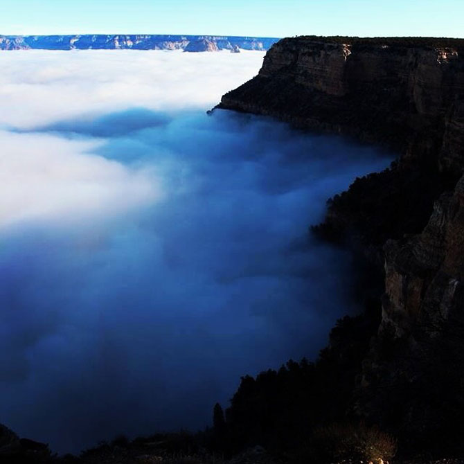 Marele Canion, umplut de un val de ceata - Poza 9