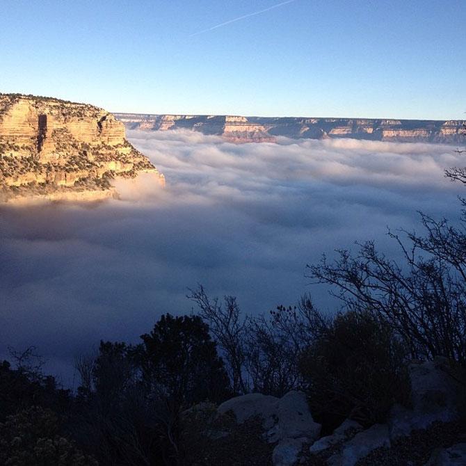 Marele Canion, umplut de un val de ceata - Poza 10