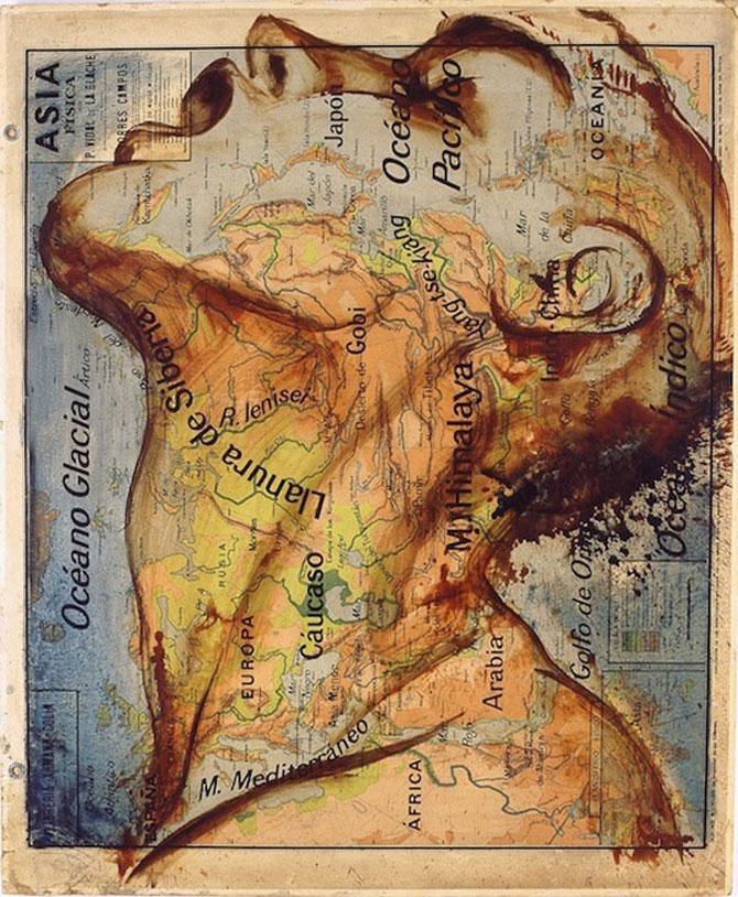 Picturi pe harti Fernando Vicente