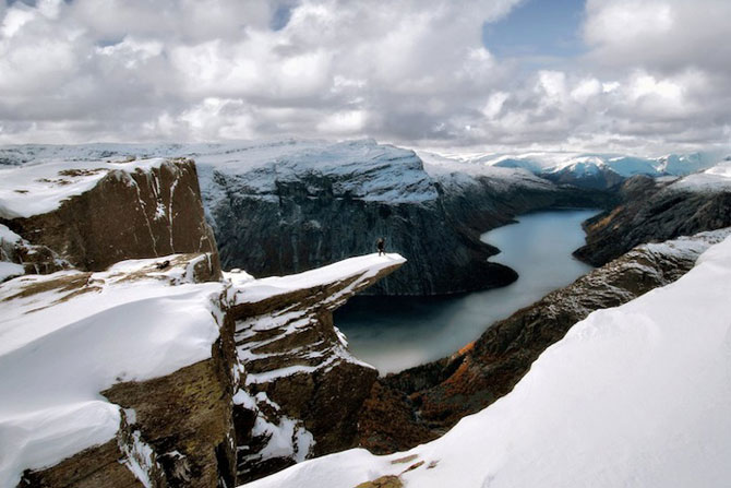 Peisaje superbe cu fiordurile norvegiene - Poza 6
