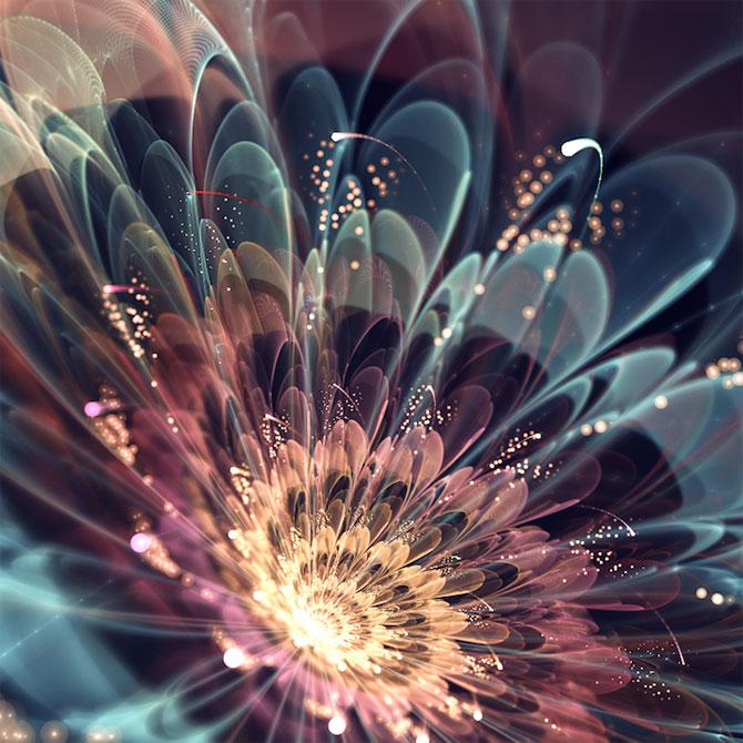 Silvia Cordedda inventeaza flori din fractali - Poza 1