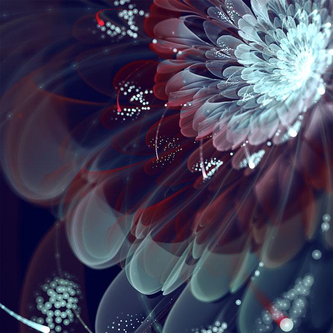 Silvia Cordedda inventeaza flori din fractali - Poza 3
