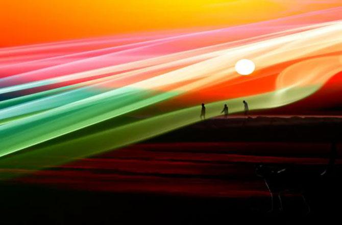 Peisaje abstracte cu siluete, de Josh Adamski - Poza 4