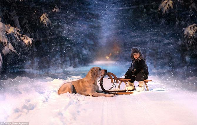 Superba prietenie dintre copiii si animalele Elenei Shumilova - Poza 10