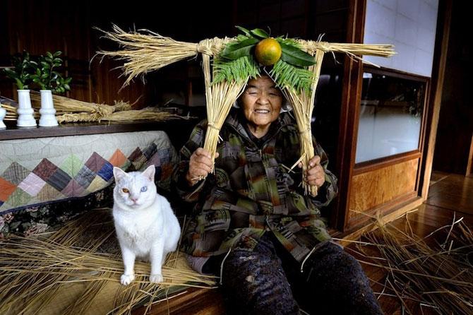 Bunica Misao si pisica Fukumaru, prietene de-o viata - Poza 4