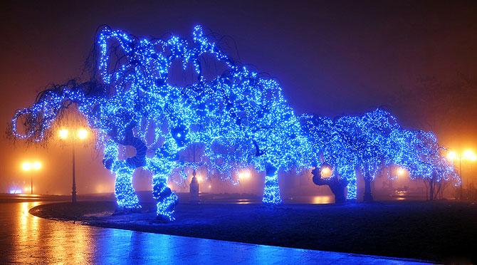 Luminile de iarna ale orasului Odessa - Poza 7