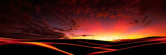 Fotografiile panoramice inunda retina cu frumusete