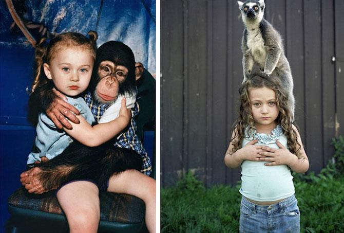 28 de super poze cu fetita care iubeste toate animalele - Poza 3