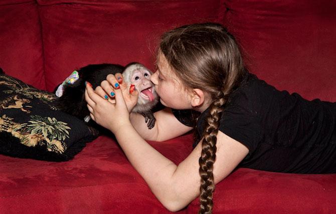 28 de super poze cu fetita care iubeste toate animalele - Poza 15