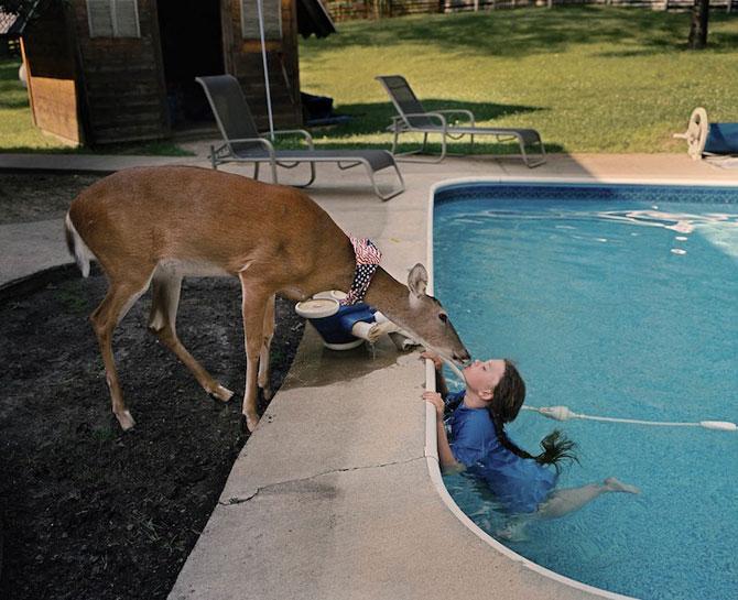 28 de super poze cu fetita care iubeste toate animalele - Poza 18