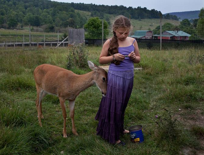 28 de super poze cu fetita care iubeste toate animalele - Poza 20