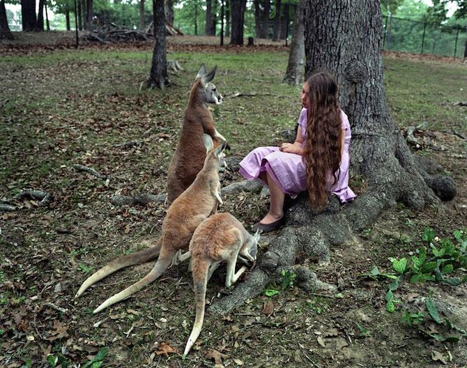 28 de super poze cu fetita care iubeste toate animalele - Poza 21