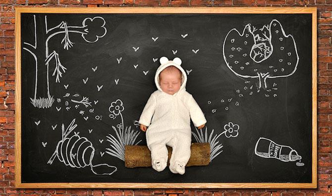Anna Eftimie si-a desenat bebelusul cu creta - Poza 1