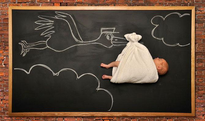 Anna Eftimie si-a desenat bebelusul cu creta - Poza 2