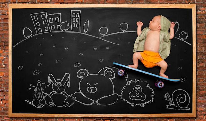 Anna Eftimie si-a desenat bebelusul cu creta - Poza 3