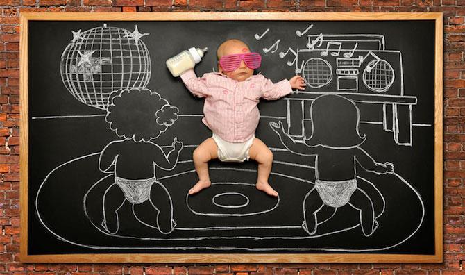 Anna Eftimie si-a desenat bebelusul cu creta - Poza 5