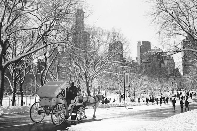 Central Park, New York, dupa viscol - Poza 1