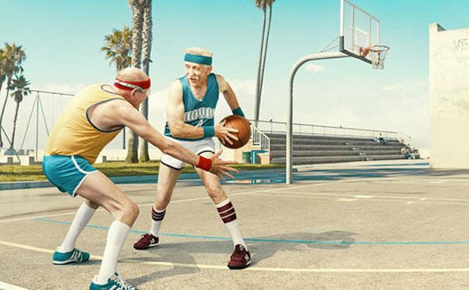 Fotografii haioase cu batrani facand sport - Poza 6