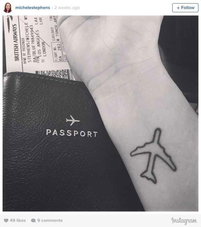 9 idei de tatuaje pentru iubitorii de calatorii - Poza 1
