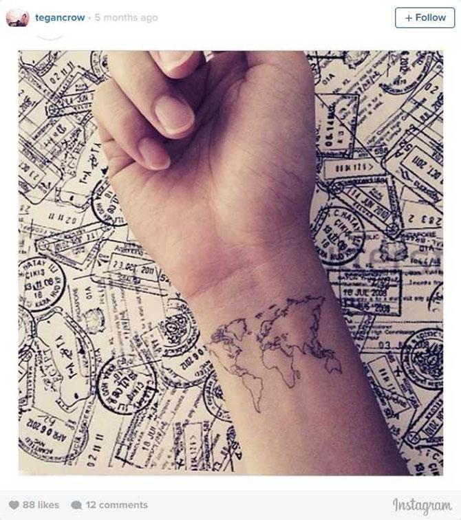 9 idei de tatuaje pentru iubitorii de calatorii - Poza 2