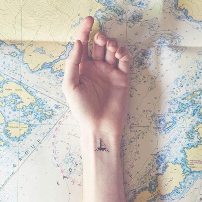 9 idei de tatuaje pentru iubitorii de calatorii - Poza 8