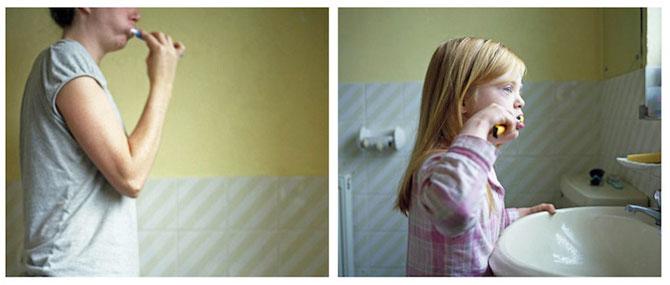 Emotionant: Mama si fiica cu sindromul Down se fotografiaza una pe alt - Poza 6