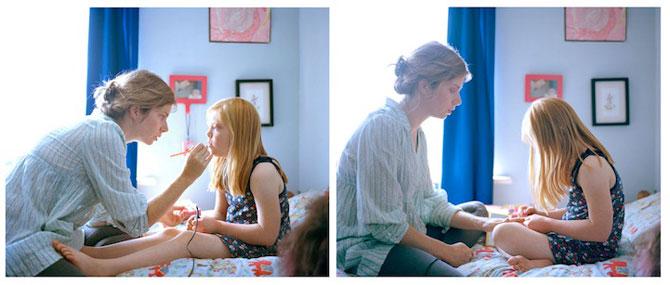 Emotionant: Mama si fiica cu sindromul Down se fotografiaza una pe alt - Poza 8