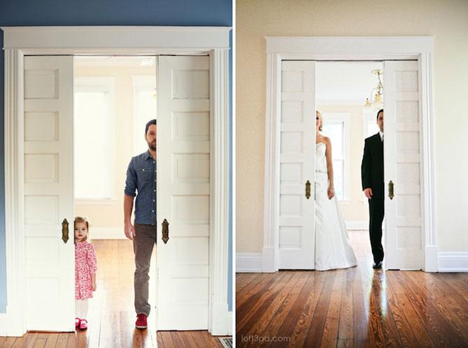 In memoriam: Tatal si fiica recreeaza fotografiile de nunta - Poza 1