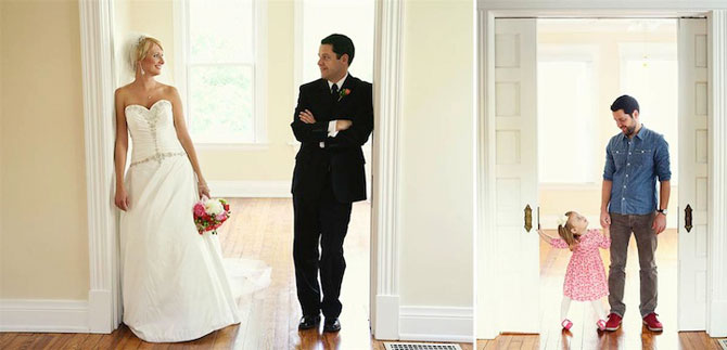 In memoriam: Tatal si fiica recreeaza fotografiile de nunta - Poza 2