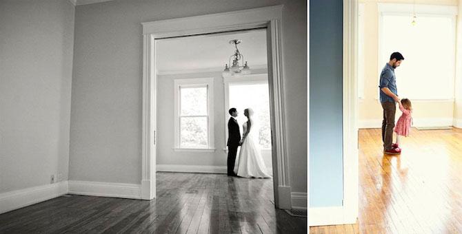 In memoriam: Tatal si fiica recreeaza fotografiile de nunta - Poza 3