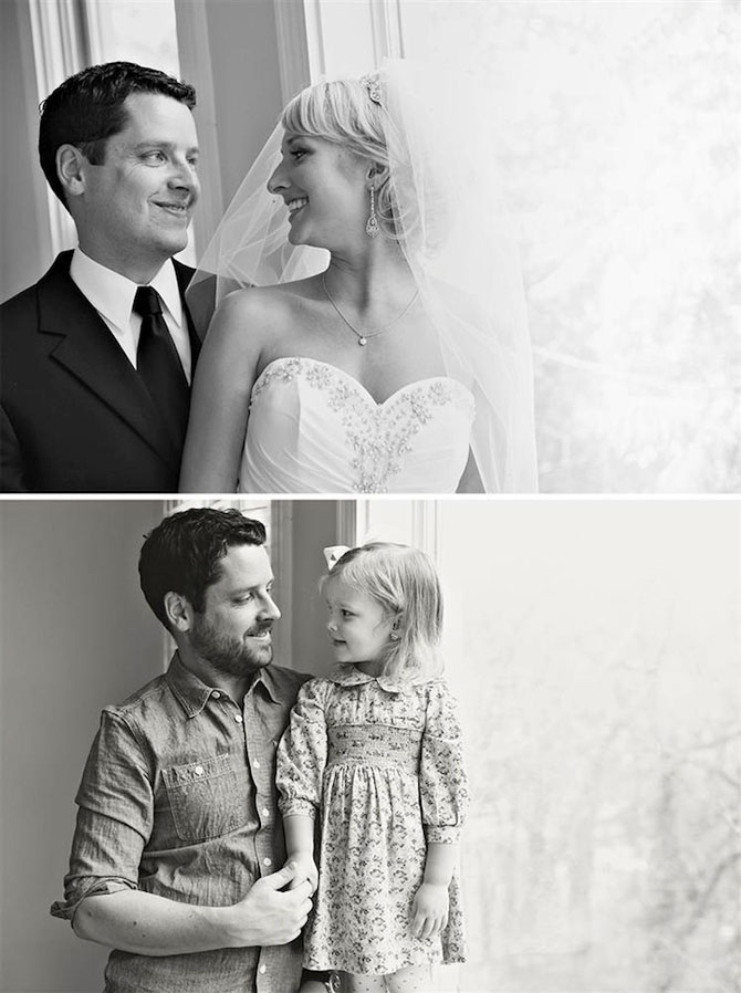 In memoriam: Tatal si fiica recreeaza fotografiile de nunta - Poza 5