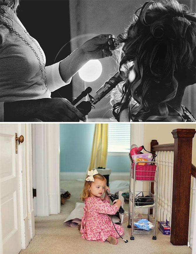 In memoriam: Tatal si fiica recreeaza fotografiile de nunta - Poza 7