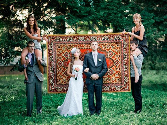 WTF?! Cele mai bizare fotografii de nunta din Rusia - Poza 3