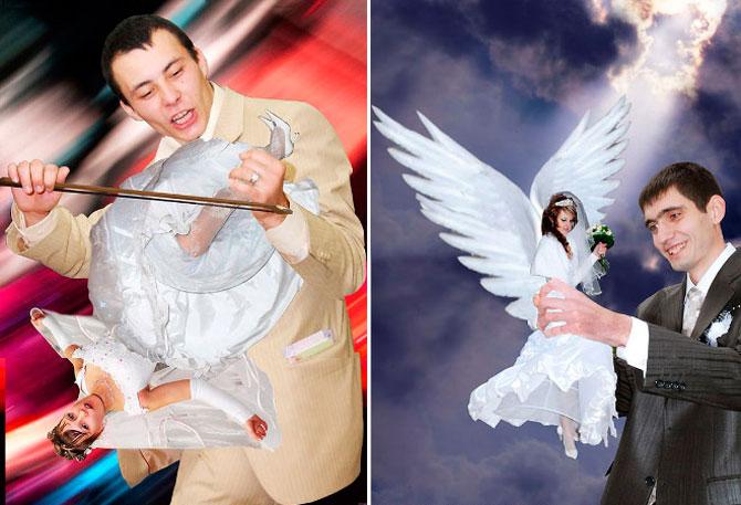 WTF?! Cele mai bizare fotografii de nunta din Rusia - Poza 4