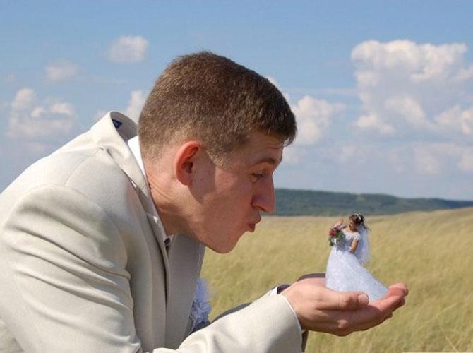 WTF?! Cele mai bizare fotografii de nunta din Rusia - Poza 5