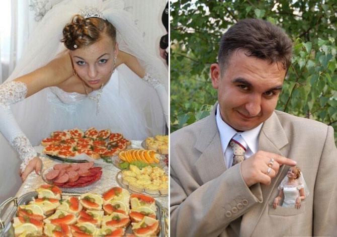 WTF?! Cele mai bizare fotografii de nunta din Rusia - Poza 7