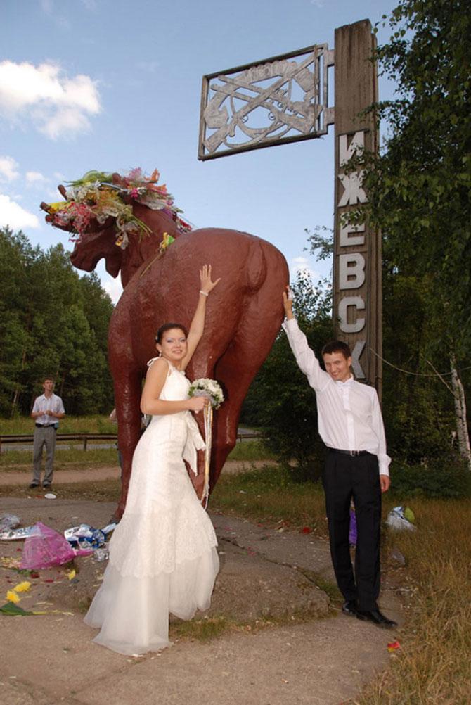 WTF?! Cele mai bizare fotografii de nunta din Rusia - Poza 13