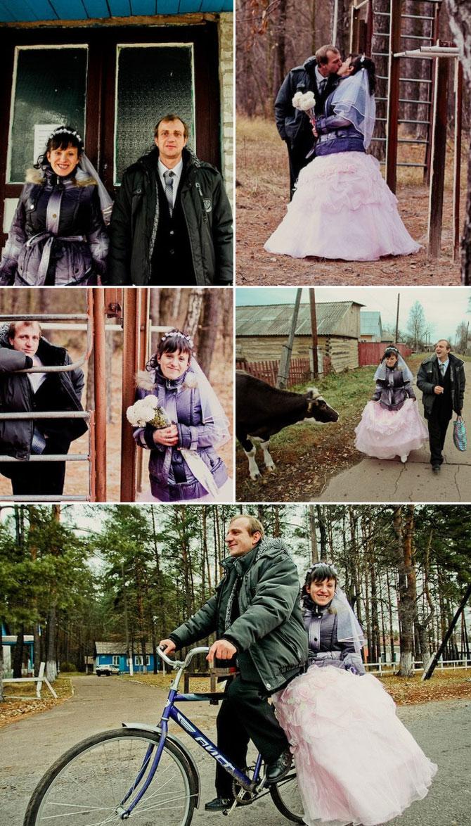 WTF?! Cele mai bizare fotografii de nunta din Rusia - Poza 14