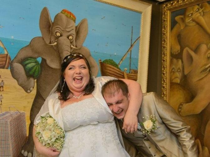 WTF?! Cele mai bizare fotografii de nunta din Rusia - Poza 15