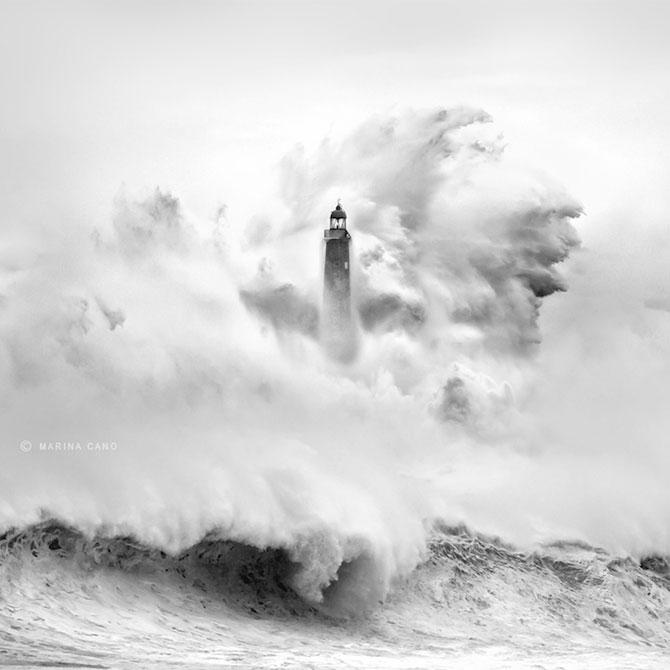 Oceanul din nordul Spaniei si farul - Poza 3