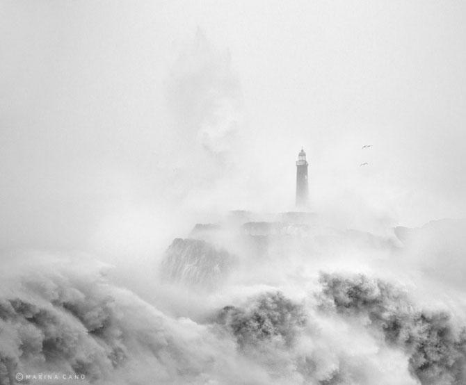Oceanul din nordul Spaniei si farul - Poza 4